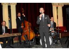 Jazzbandet Avenue uppträdde under Lyxtorsdag på Café Opera i Stockholm den 19 januari 2017.