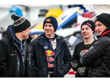 Oliver Eriksson dominerade kvalomgångarna i RallyX On Ice-premiären