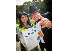 PROGRAMME: Festival Director Punam Ramchurn and compere Norman Warwick.