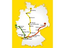 Streckennetz von derschnellzug.de