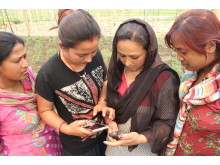 The Practical Answers app being used in the field in Nepal