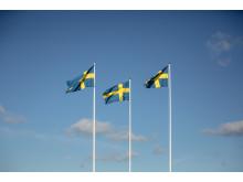 Flaggorna vajar på Tjolöholms Slott