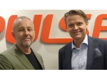 Thomas Lantz, Styrelseordförande i Make IT, och Martin Hogmalm, VD på Pulsen Production