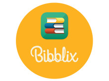 Bibblix logga gul
