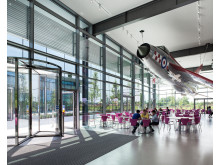 Dyson Malmesbury technology campus - lightening cafe