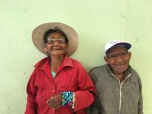 Äldre par, Optiker utan gränser i Peru 2017