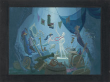The Little Mermaid, Disney Studio Artist (1989) © Disney / Acrylic on canvas board