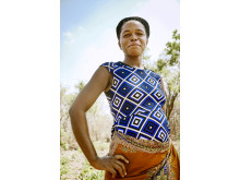 Joyce Hawesa, 29, är småskalig bomullsodlare i byn Mabele, Zambia