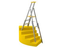 Wibe Ladders Trappstege 77S