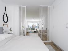 Genomgående lägenheter med utblickar och ljusinflöden från två håll