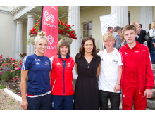 SportsAid athletes with Olympian Keri-Anne Payne at Stoke Park on 28 June 2014