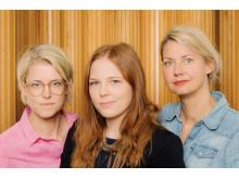 Från vänster: Frida Ohlsson Sandahl, Matilda Andersson och Lisa Andersson Tengnér.