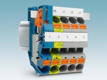 Ny kompakt installationsplint för upp till 16 mm² ledare med push-in anslutning centraler vid fastighetsinstallation.