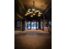 Entré på HUUS Hotel, Gstaad, designat at Stylt Trampoli