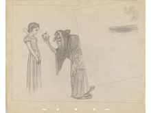 Snow White and the Seven Dwarfs, Gustaf Tenggren (1937) © Disney / Graphite on paper