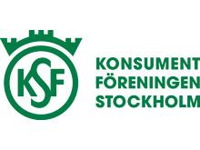 Logotyp grön, liggande, Konsumentföreningen Stockholm
