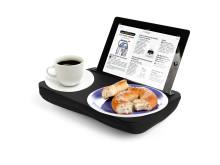 Praktisk brett til iPad og servering