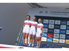 Damelaget før VM fellesstarten 2014