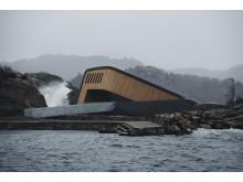 Das Unterwasserrestaurant Under in Lindenes, Südnorwegen, erhielt einen Michelin-Stern.