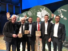 Bild från prisutdelningen, Kasper Salin-priset