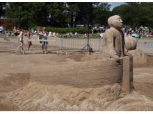 Kalmars internationella sandskulpturfestival 2014
