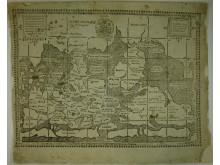 Johannes Rudbeckius världskarta, tryckt i Västerås 1626. Västerås Stadsbibliotek.