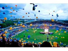 Ballonger på invigningen