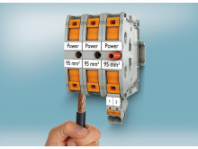 High-current terminals with push-in connection technology for conductors up to 95 mm²