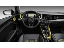 Audi A1 (Python Yellow) cockpit