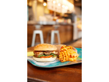 Chicken Burger and Baked Fries
