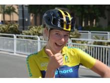 Clara Lundmark gick in som 43:a på linjeloppet damjuniorer på VM i Doha Qatar.