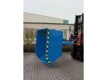 Tippcontainer eller tippvagn för gaffeltruck