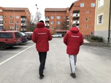 Områdesvärdar i Skarpnäck: Kim och Karim