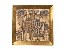Dekorativa auktionen, 17/2, nr 21, väggrelief, Lisa Larson.