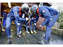 Team GB Bobsleigh huddle