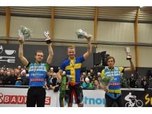 Prispallen på Trial-SM i Piteå under SM-veckan