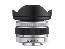 Pentax Q-objektiv 08 (17,5-27mm) med solblender
