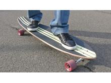 Longboardhjul af polyurethan med komponenter fra BASF i høj kvalitet giver stabile køreegenskaber