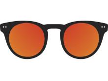 Orange solglas