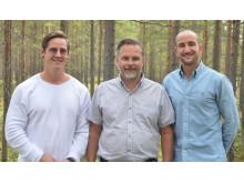 Fr.v. Niclas Granström, Nicklas Jadinge, Sammy Pergament