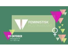 Banner Feministisk Höstmarknad Leopard förlag 2017