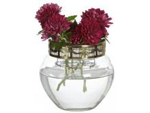vas för snittblommor med hållare i metall