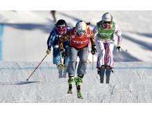 Damernas final under Audi FIS Skicross World Cup på Idre Fjäll den 14 februari