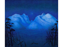 Vinternatt i Rondane/ Winter Night in the Mountains, olje på lerret, 1914., Harald Sohlberg. Nasjonalmuseet