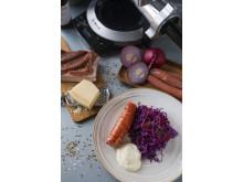 salsiccamedrödkålssallad