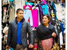 Shoppers on Rochdale Market