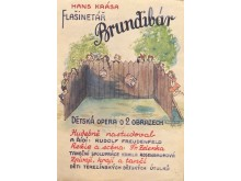 A poster for Brundibar at Theresienstadt/Terezin, in watercolor by an unknown artist.