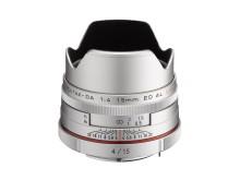 HD Pentax DA 15mm F4 Limited silver vastavalosuojalla