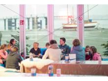Vollverglasung beim Stadtwerke Eisfestival