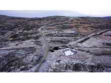Roan vindpark november 2016, adkomstvei og internveier